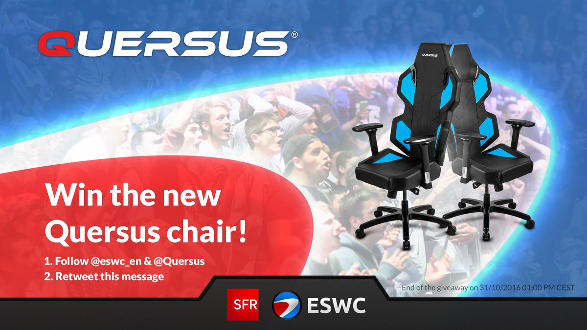 Giveaway! - Follow @eswc_en & @Quersus - Retweet  And win a Quersus Chair https://t.co/bfBCprfJJg
