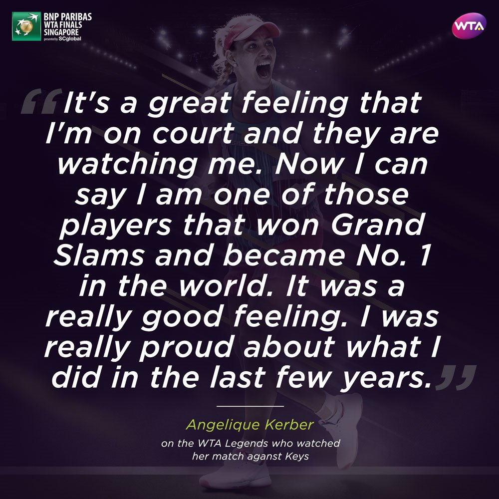 Wta On Twitter I Was Really Proud At Angeliquekerber On Being