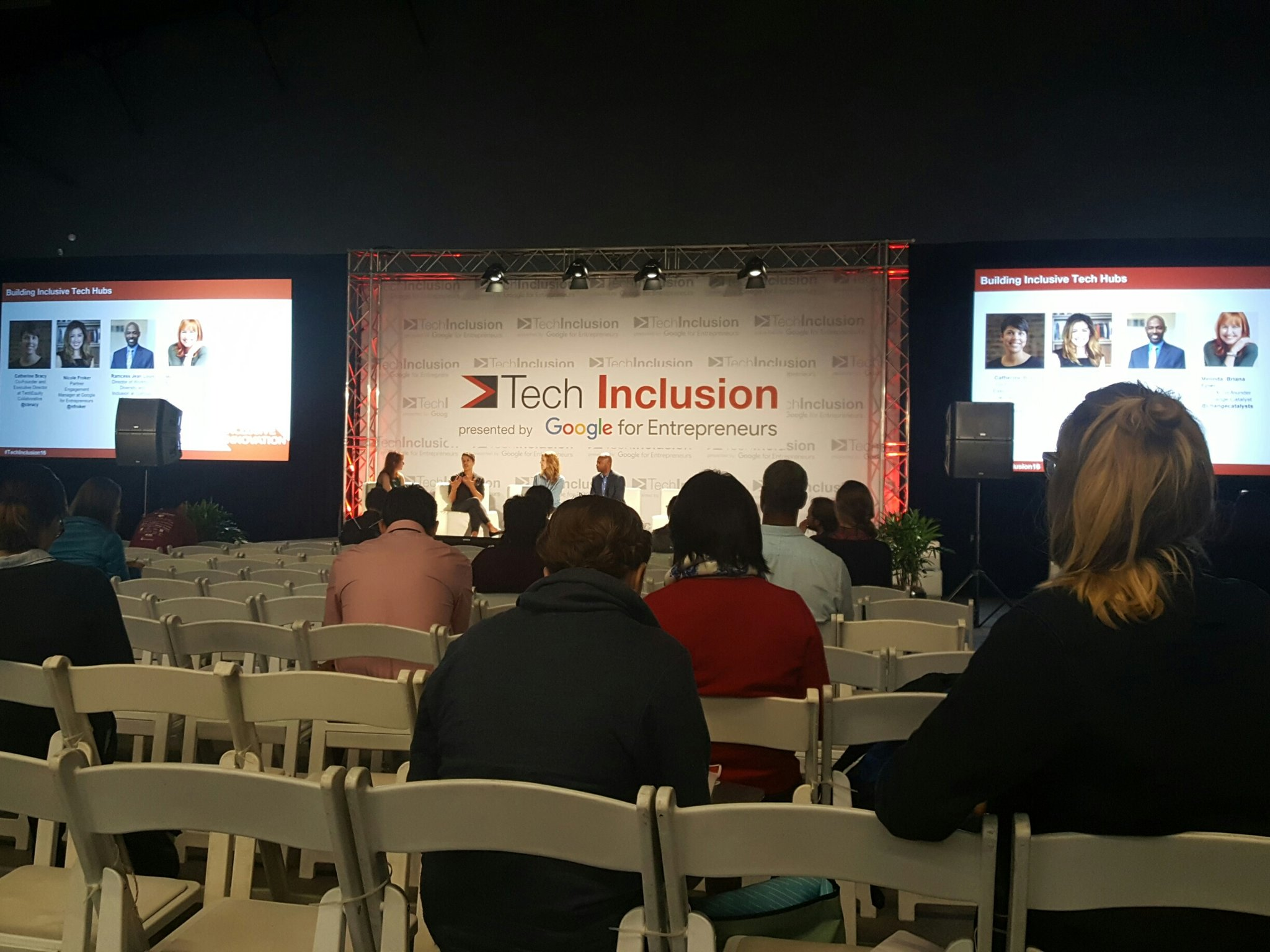How do we create on-ramps into tech for underrepresented people? Catherine Bracey #TechInclusion16 https://t.co/y6wP6VN8t9