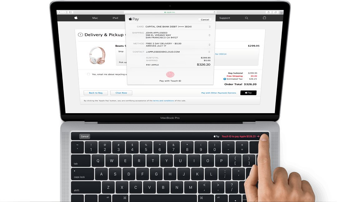 Apple unveils new MacBook Pro with touch bar on top of keyboard