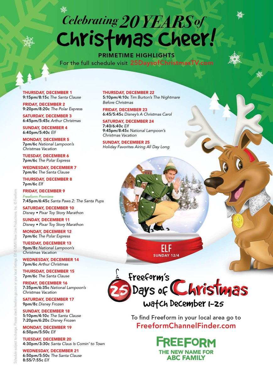 25 days of christmas on twitter its finally here check out the full schedule for this years 25daysofchristmas at httpstcoo8m4rj4abj
