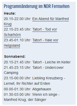 Ndrde On Twitter Trauer Um Manfredkrug Das Ndr Fernsehen ändert