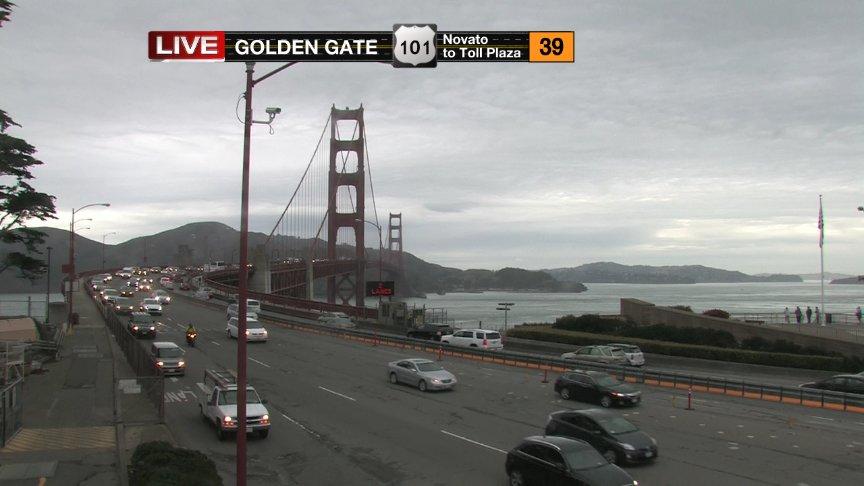 Golden Gate BridgePolice Activity ClearedNB 101/South TowerResidual delays from hwy 1 splitKRON4News