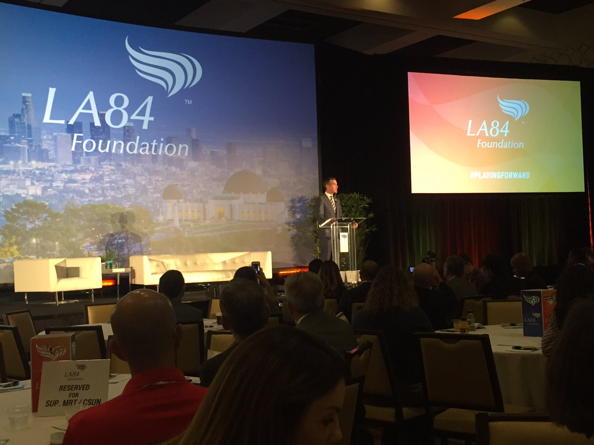 Thank you @MayorOfLA @ericgarcetti for kicking off the @LA84Foundation #Playingforward Summit. We are proud to be your #Afterschool program! https://t.co/WQCgZkRRAK