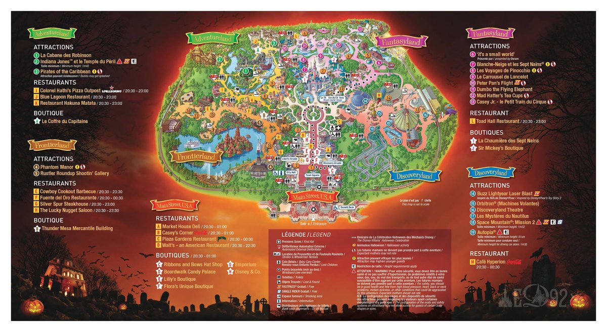 Disneyland Paris Halloween Party 2018.Ed92 On Twitter Official Program For The 2016 Halloween