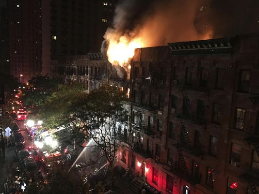 1 dead, 12 hurt in fire at NYC apartment building