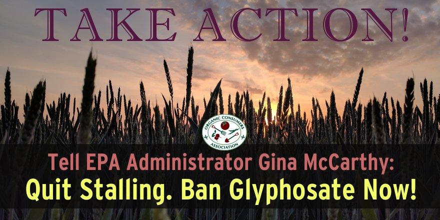 *ACTION ALERT* Tell @EPA Administrator Gina McCarthy: Quit Stalling. #BanGlyphosate NOW! https://t.co/laSciTAGSy  @GinaEPA Pls Retweet!