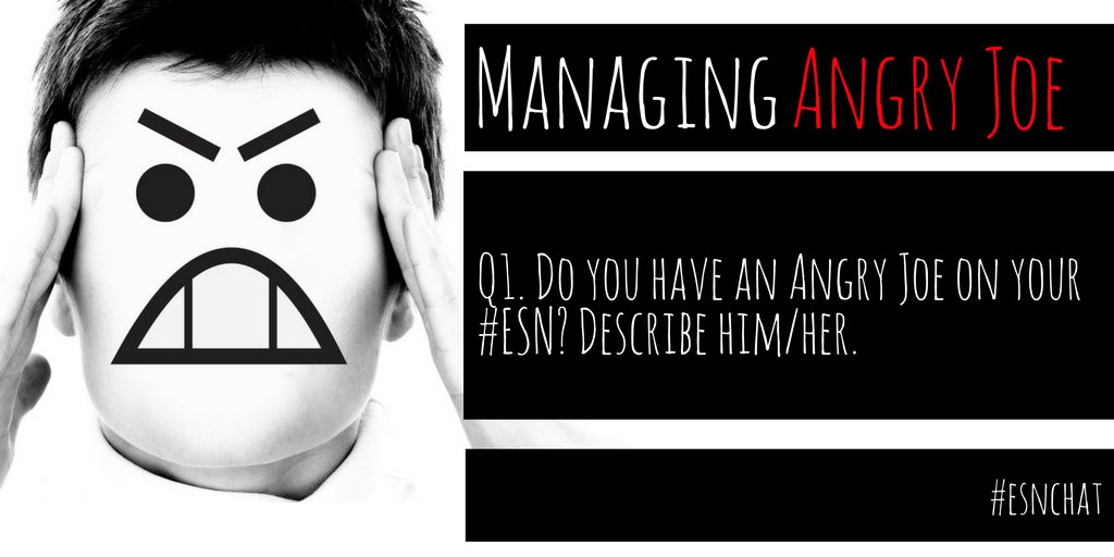 Q1. Do you have an Angry Joe on your #ESN? Describe him/her? #esnchat https://t.co/qfFR1aOdE3