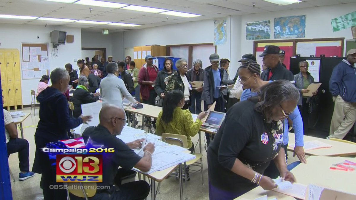 WJZ @ 11: Record turnout for first day of early voting in Md. @MeghanWJZ