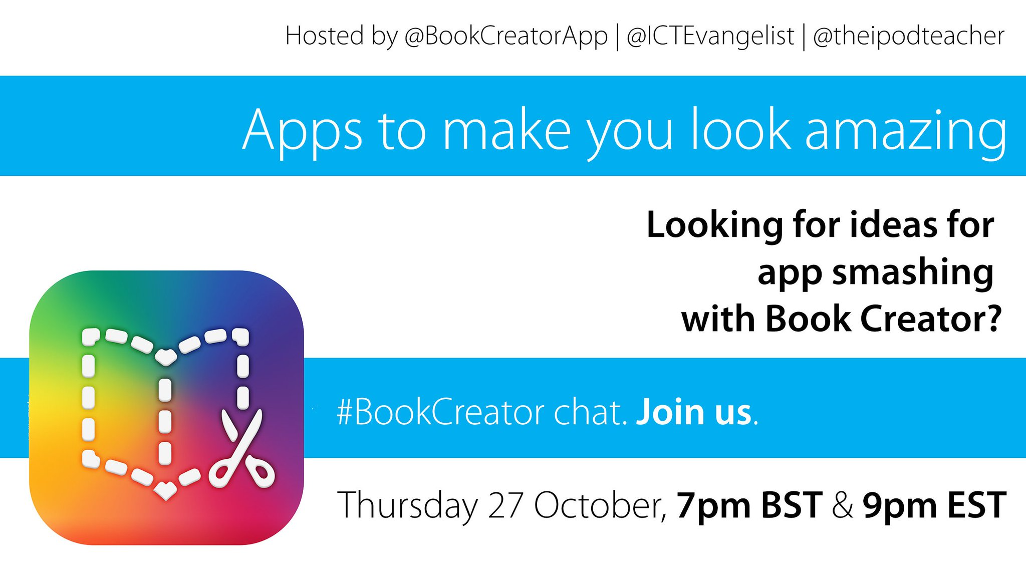 Thumbnail for #BookCreator Chat - App Smashing (27 Oct 2016) - UK