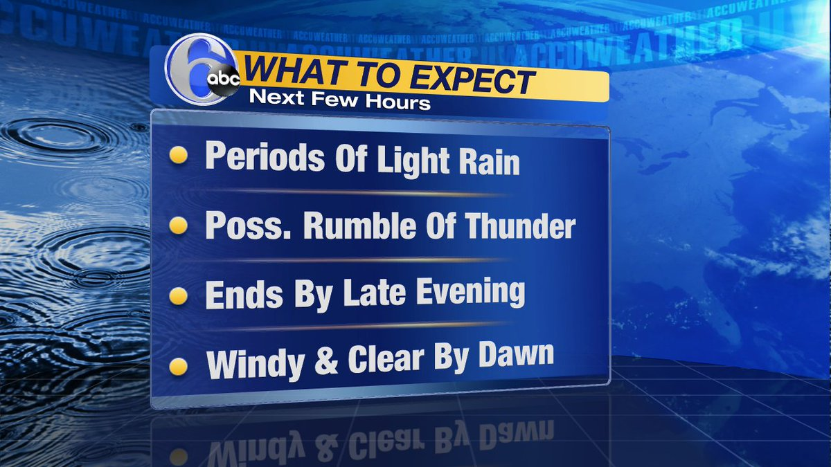 THE NEXT FEW HOURSHere's what to expect as a cold front pushes through this evening.