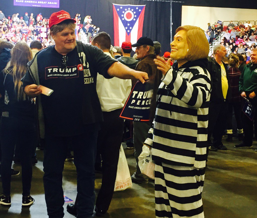 It's early Halloween at the Donald Trump rally in Toledo