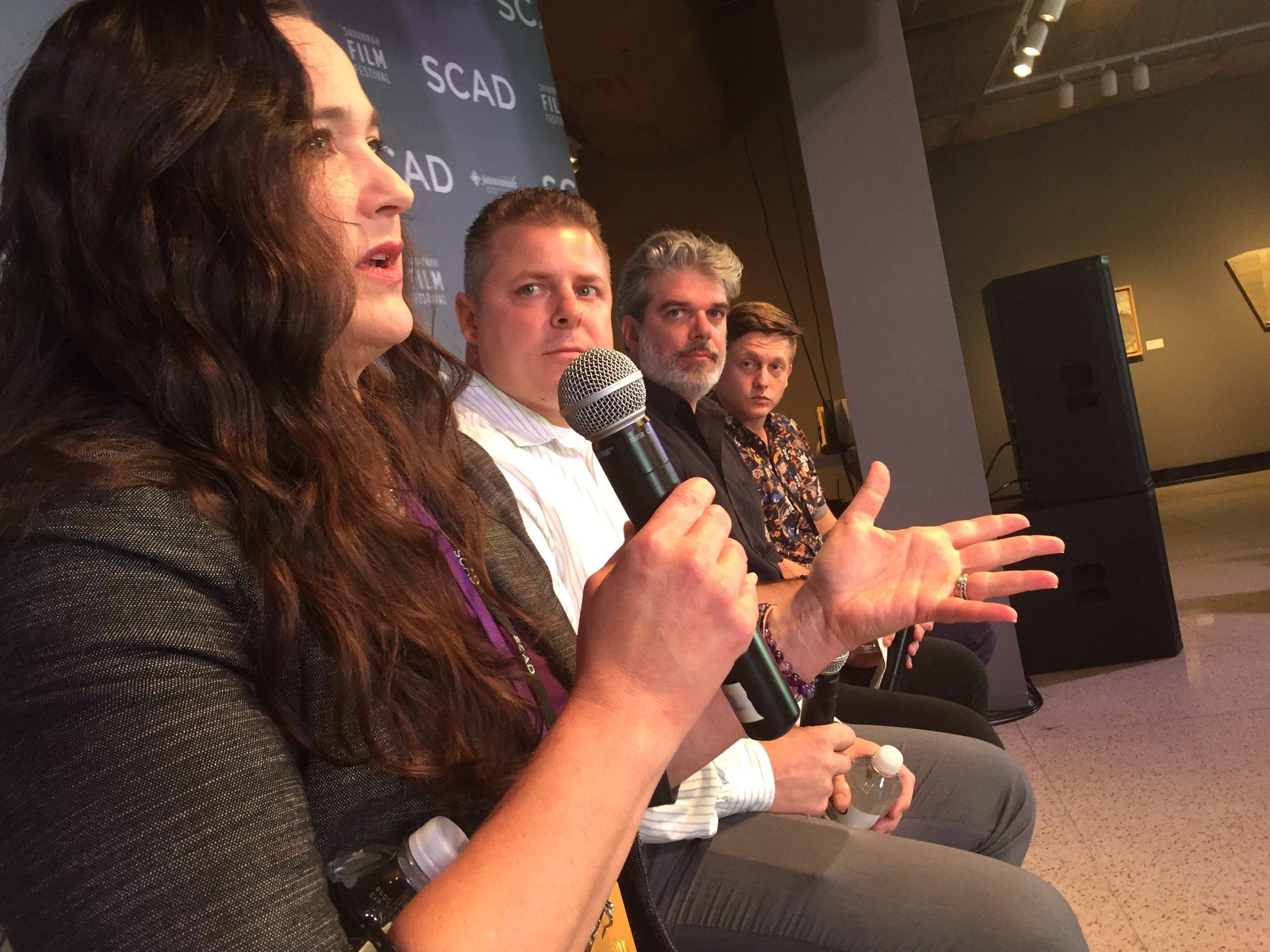 Terrific conversation on ethics at today's #VR panel at the @savfilmfest Savannah film Festival #savff https://t.co/KIarzf8qs4