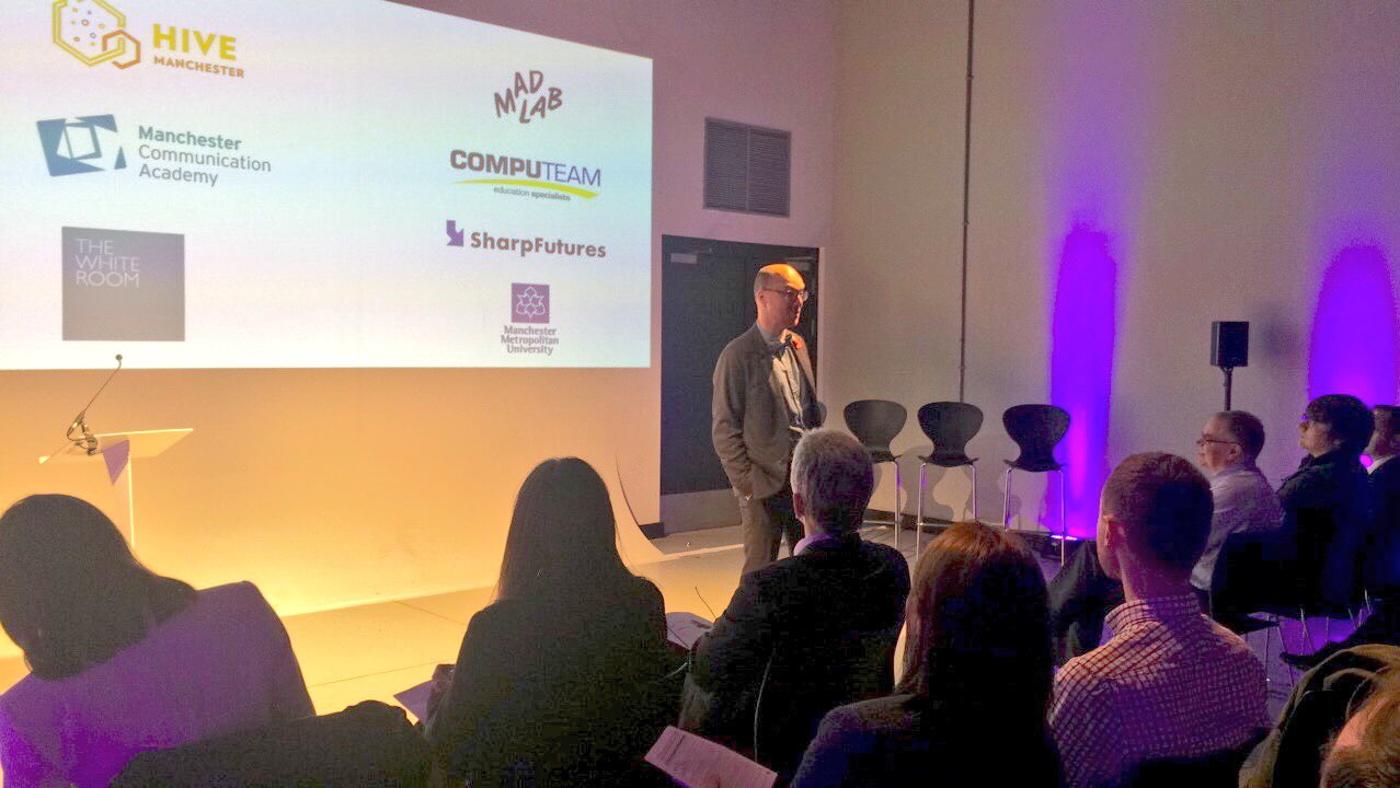 """Whether you're a toddler, uni student or 80 years old, our skill sets are always developing"" - @jsibbald  #CCCManchester @sharpproject https://t.co/OdLG4KzlgX"
