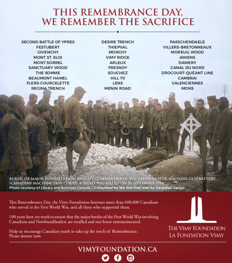 """Sacrifice Status: Vimy Foundation On Twitter: """"This Remembrance Day, We"""