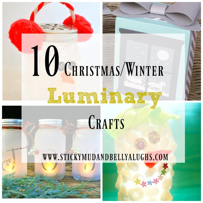 10 Winter/Christmas Luminary Ideas crafts