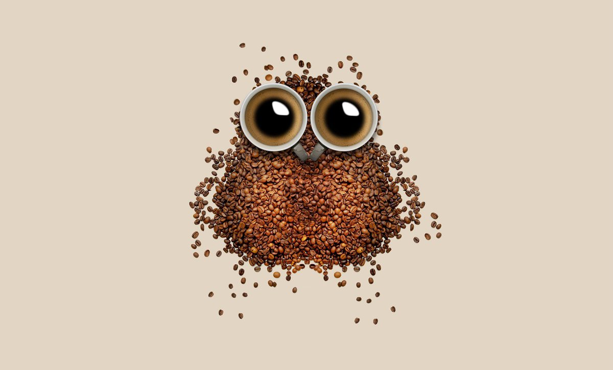HD Wallpapers On Twitter Cute Tco MhtUZCWVno Food Owl Abstract Coffee Beans Brown Bird Wallpaper HDwallpapers Photography