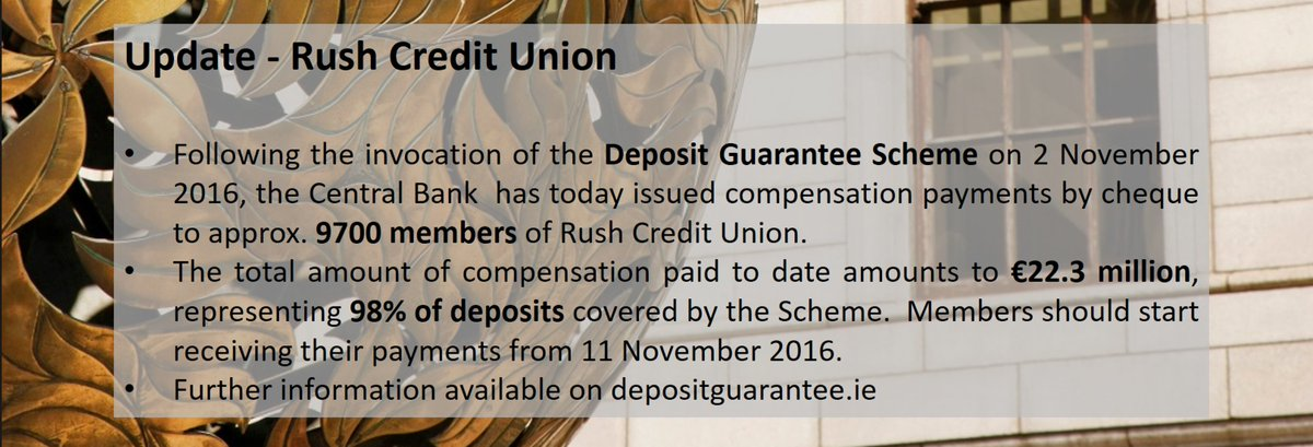 Joint Liquidators appointed to Rush Credit Union - Central