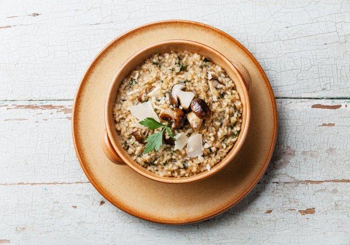 Oggi si prepara il risotto ai funghi! tutorial