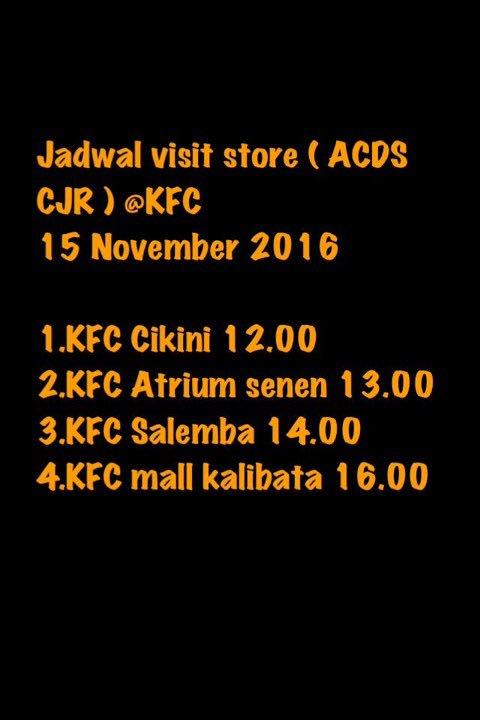 Jadwal visit store album ACDS CJR! Yeah! Yuk ramaikan!