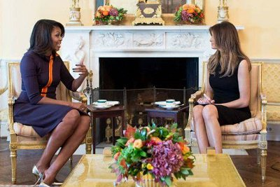 First Lady Michelle Obama hosted incoming First Lady Melania Trump for tea as President Obama and newly elected President Trump held 90 mins meeting.