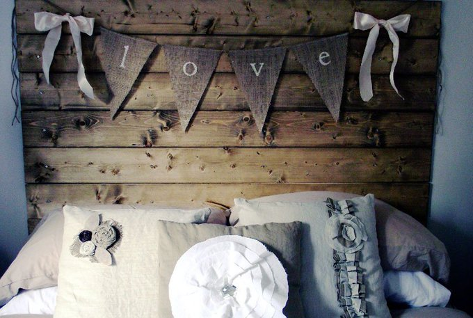Add some flare to your headboard with a banner! diy