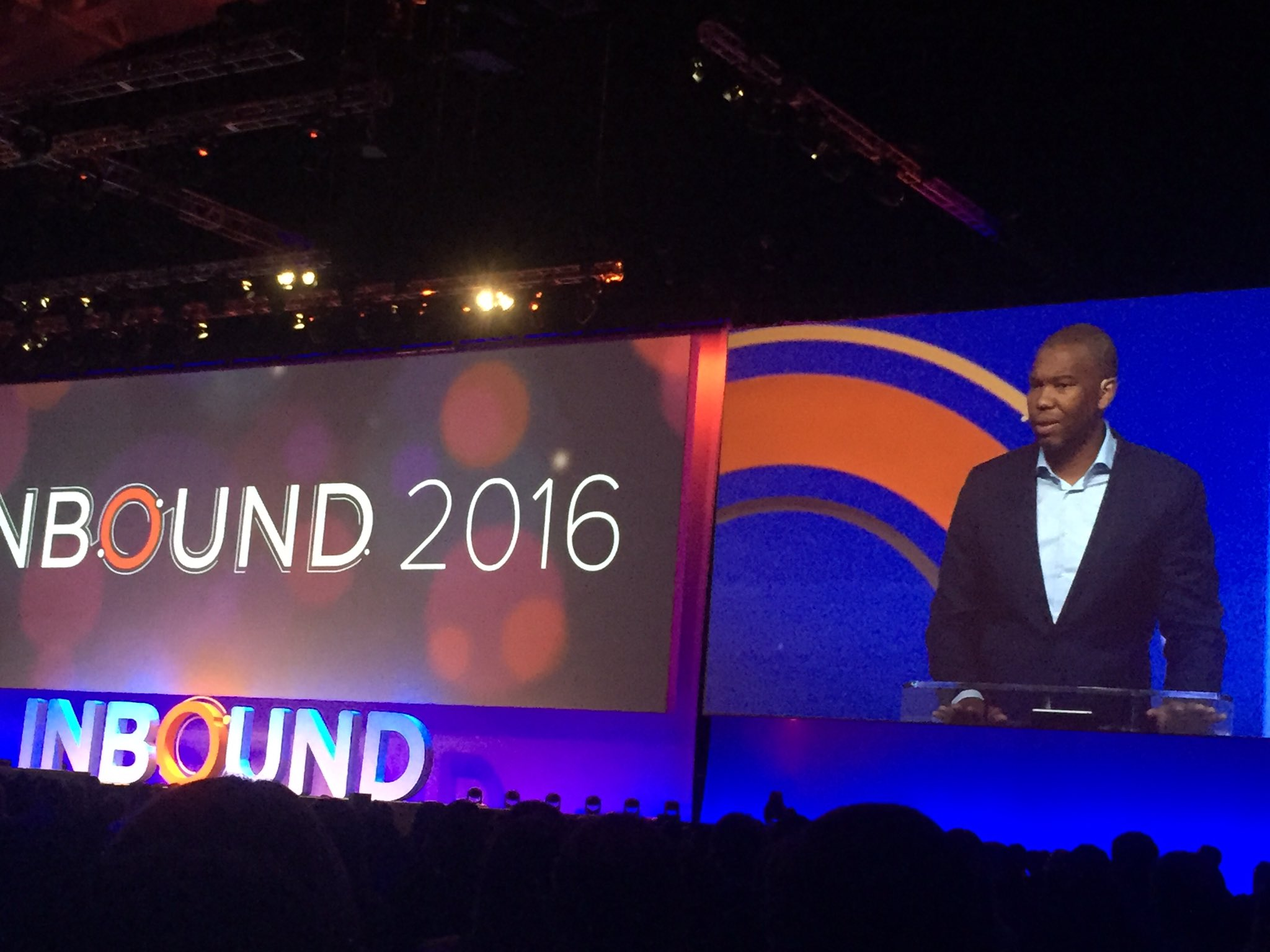 Brave talk by @tanehisicoates at #INBOUND16. Proud that this morning isn't just about marketing. Thank you @hubspot! https://t.co/JBEfXX3tkw