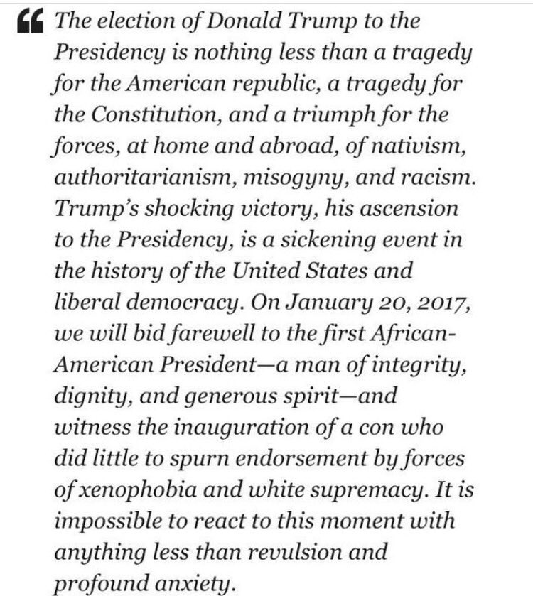 To our fans & friends outside the US, this quote from David Remnick https://t.co/h012yhWpxB