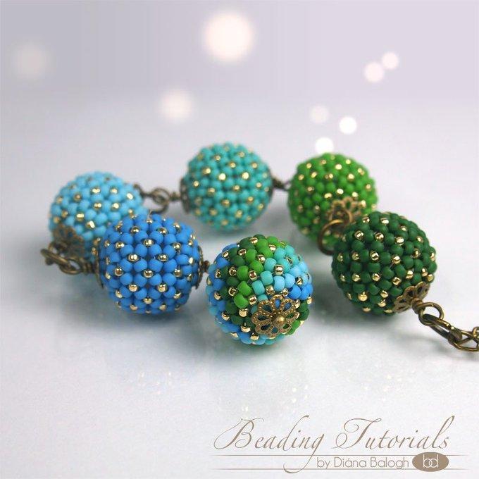 DIY beading tutorial chenille beaded bead in my etsy shop