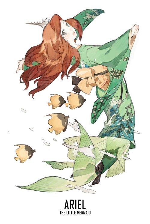 ariel en kimono