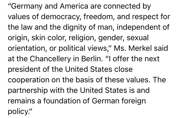 The key lines from Merkel's message to Trump: https://t.co/CBdbHoCXzs
