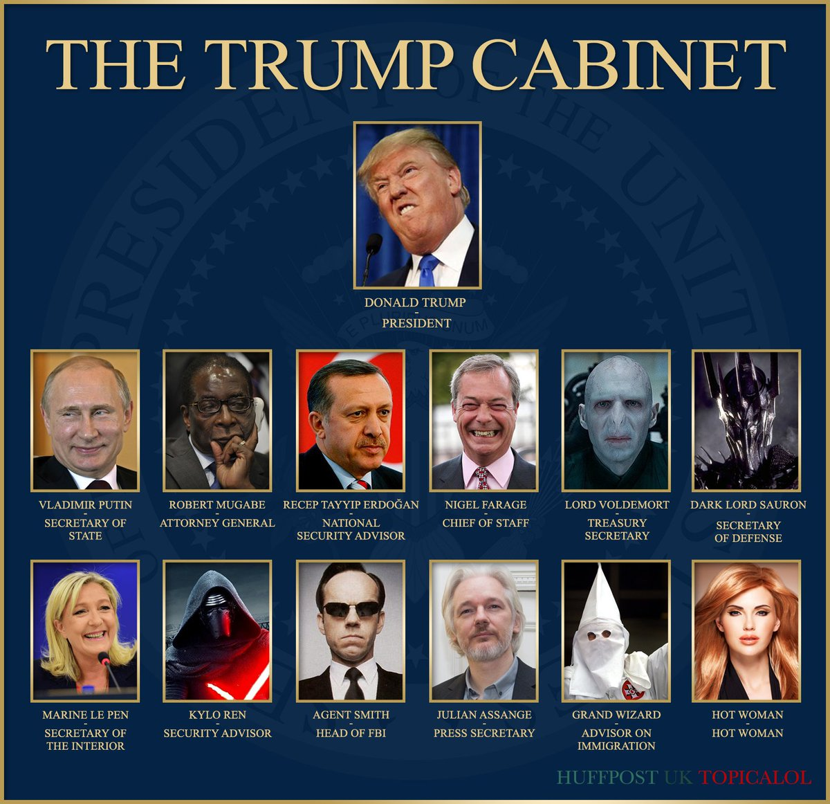 EXCLUSIVE: #TrumpPresident Reveals His New Cabinet https://t.co/txpbCPPZXt https://t.co/1WLpGiCf6l