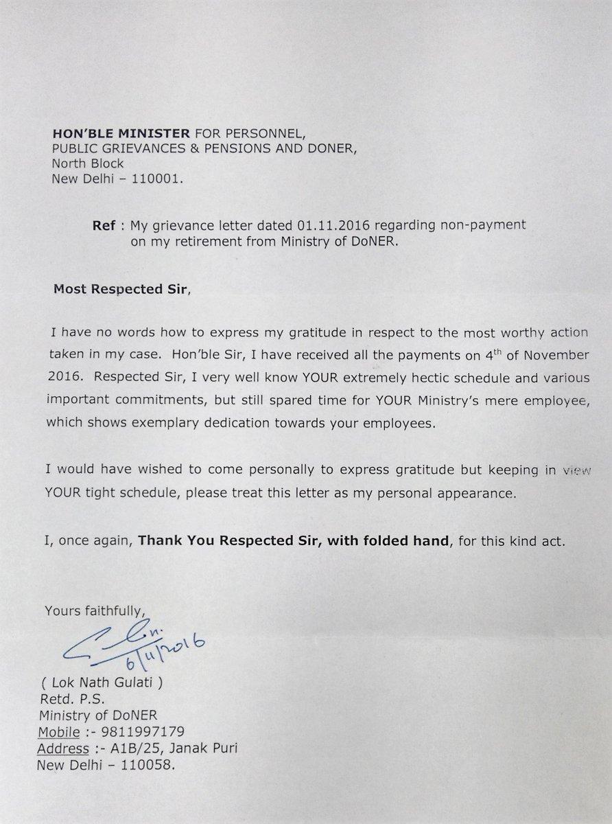 doppw doppw twitter letter of appreciation for doner minister drjitendrasingh pic com 9s3tkiz97m