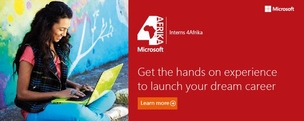 Microsoft Graduate Interns4Afrika Program 2017