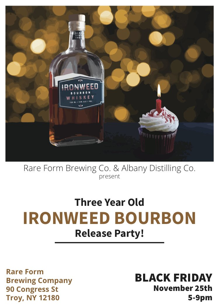 Happy Birthday Ironweed Bourbon! #ourbabyis3 #craft #whiskey #ironweedwhiskeypic.twitter.com/88PY1Ow3Rm
