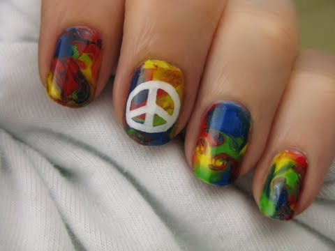 Tie-Dye Hippie Nail Art CutePolish Beauty Nails -