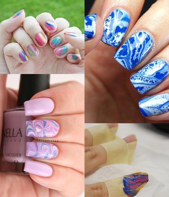 DIY:Suminagashi Marble Nail Art marble nailart nailpolish diy tips nail