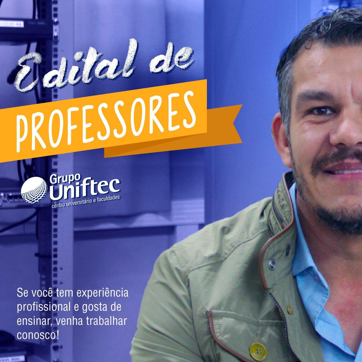 Seleção de professores na @FtecFaculdades, edital no link https://t.co/1Y7RNQ03gA #SeleçãodeProfessores #GrupoUniftec #CX #POA #NH #Bento https://t.co/WGniE2kJXK