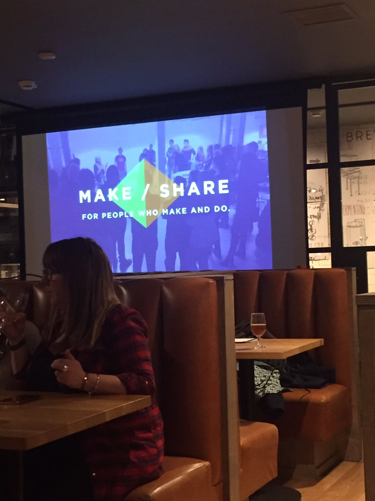 Third time at #makeshare in the beer kitchen! Still sticking to the Diet Coke, it's gonna be interesting! #cbdsn https://t.co/mnqJVse6P3