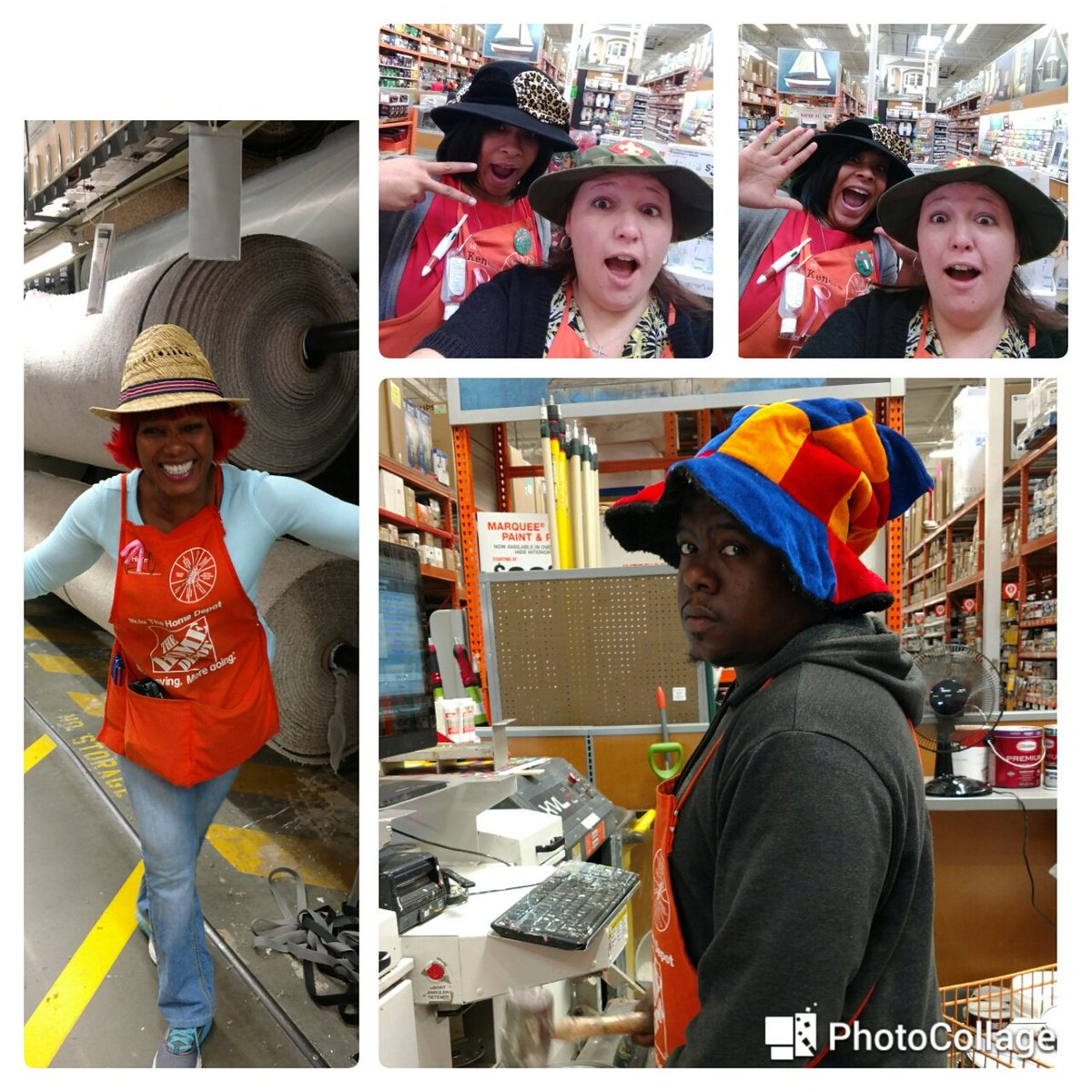 Another day of fun! Silly hat day @Conyers0128  @JPatton89 @jhiltonthd @TheFoodGirl1