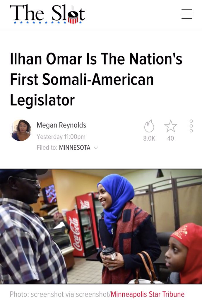 Congrats to Ilhan Omar, first Somali-American Muslim woman to win a House race in Minnesota https://t.co/B3V04Ylcn3 https://t.co/vtQ8SXJGXx