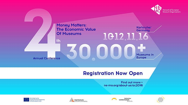The @NEMOoffice conference on the economic value of #museums starts today! Follow it on #NEMOac16 and https://t.co/9lovVEXQzZ https://t.co/szMEzQRKxE