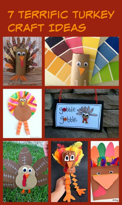 7 Terrific Turkey Craft Ideas turkey crafts