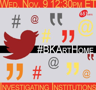 TODAY'S THE DAY TWEEPS! We're chattin at 12:30p ET on #BKArtHome. Join us & discuss what YOU need frm arts orgs. Our creativity is NECESSARY https://t.co/CkDOrCCFbx