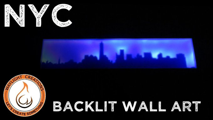 A cool NYC light up sign. DIY LED scrollsaw patterns free maker