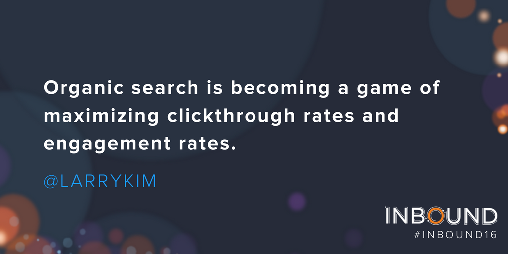 .@larrykim is dropping some awesome knowledge about search & paid today during his #INBOUND16 talk. Lovin' it. ❤️ https://t.co/LurnDJIaFn