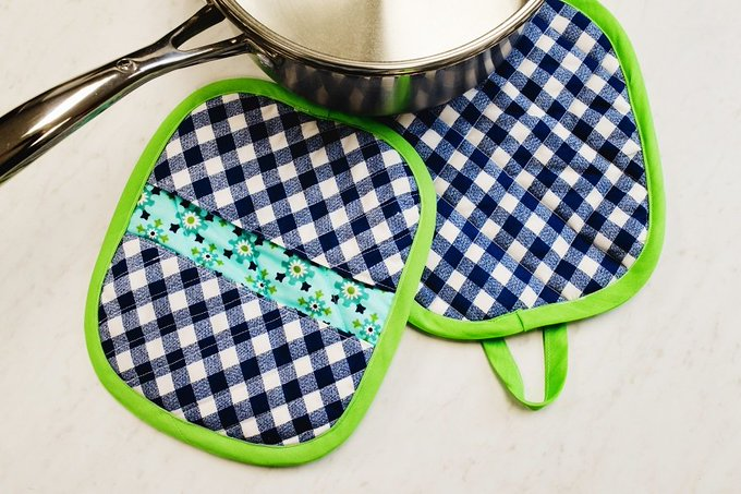 Add some diy flair by making your own potholders.