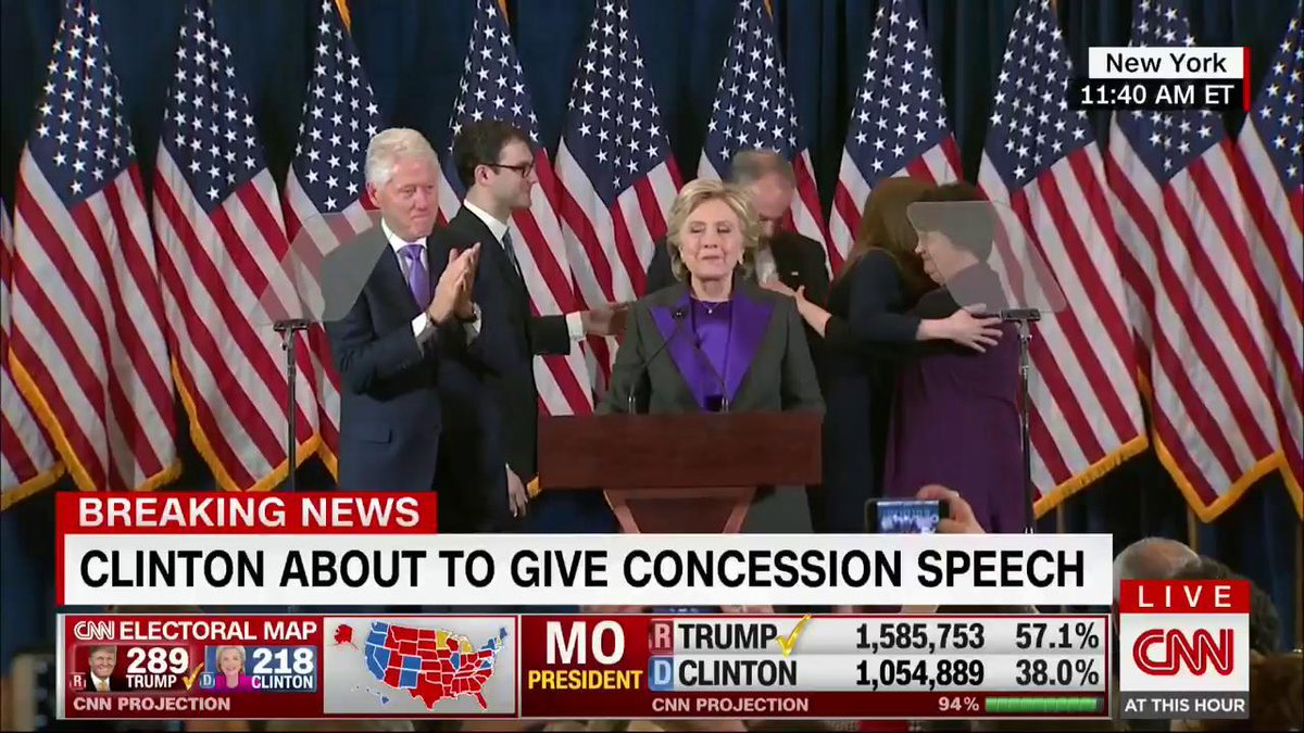 CNN on Twitter BREAKING Hillary Clinton delivers concession