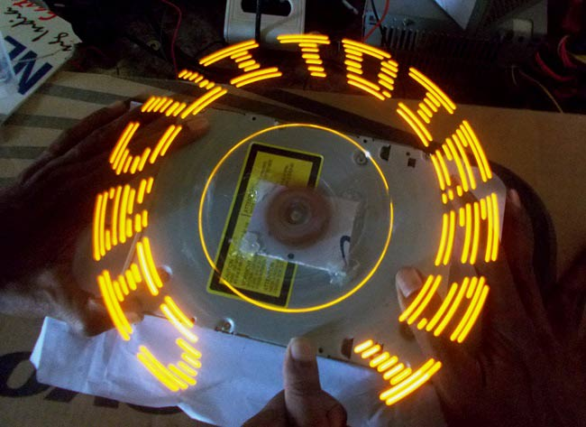 DIY Arduino Propeller LED Display:
