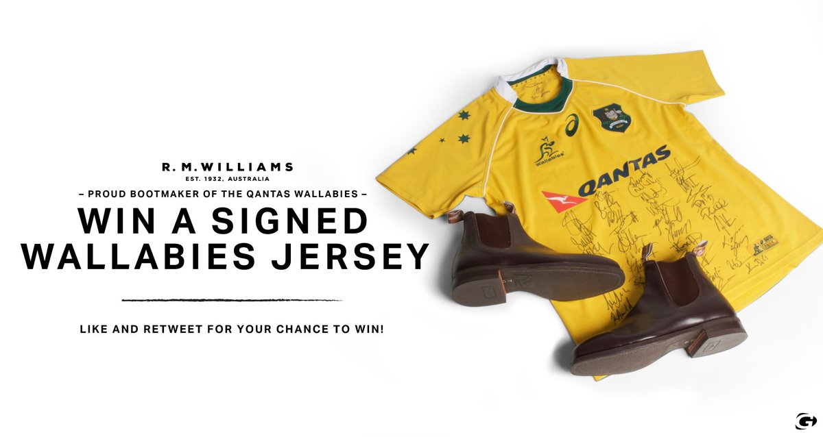 COMPETITION TIME! Courtesy of @RMWilliamsUK we are giving away a signed #Wallabies jersey! Winner will be announced 1 week today! Good luck!